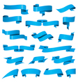 biggest collection of blue ribbons vector image
