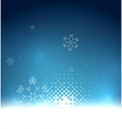 Blue magic sky and snowflakes winter background vector image