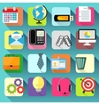 business office stationery icons set vector image vector image
