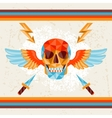 card with colored geometric skull vector image vector image