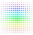 cash register shape halftone spectral grid vector image vector image