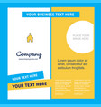 church company brochure template busienss template vector image vector image