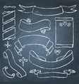 collection of chalkboard banners vector image vector image