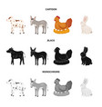 design of breeding and kitchen sign vector image vector image