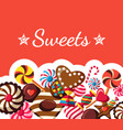 digital red brown sweet candies vector image vector image