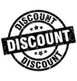 discount round grunge black stamp vector image vector image