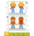 education paper crafts for children boy and girl vector image vector image
