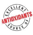 Excellent source of antioxidants stamp vector image vector image