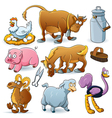 Farm animal collection vector | Price: 5 Credits (USD $5)