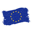 flag of the european union grunge abstract brush vector image