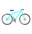 flat style of bicycle vector image