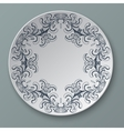 floral ornament plate isolated vector image vector image
