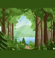 forest landscape flat vector image vector image