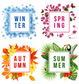 four seasons banners vector image vector image