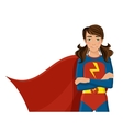 Girl in superhero costume vector image vector image