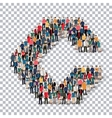 group people shape letter C Transparency vector image