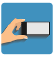 Hand holing smartphone vector image