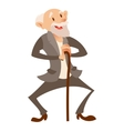 Happy old man vector image