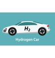 hydrogen fuel cell car eco environment friendly vector image vector image