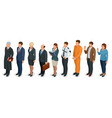 isometric law and justice people present in court vector image vector image