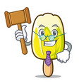 judge lemon ice cream mascot cartoon vector image vector image