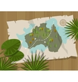 jungle map australia cartoon adventure vector image vector image