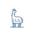 lama line icon concept lama flat symbol vector image