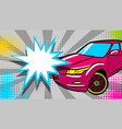 luxury roadster text star crash speech bubble vector image