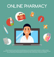medication online store banner vector image