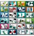 Mega collection of business annual report covers vector image vector image