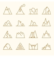 Mountain line elements set vector image vector image