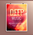 music flyer brochure poster template design for vector image vector image