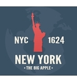 new york t-shirt apparel fashion design vintage vector image