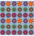 Orange Blue Green Flower Pattern vector image vector image