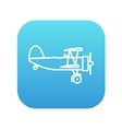Propeller plane line icon vector image