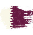 qatar scratched flag vector image vector image