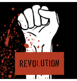 revolution poster fist symbol vector image