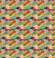 Rough brush orange and green splashes vector image vector image
