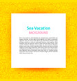 sea vacation paper template vector image vector image