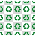 Seamless pattern with ecology signs and icons vector image vector image