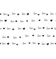 seamless pattern with handwritten love word vector image