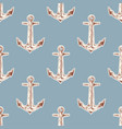seamless vintage pattern with anchor vector image vector image