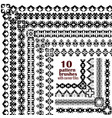 set of geometric black borders in ethnic boho vector image vector image