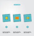 set of wd icons flat style symbols with database vector image vector image
