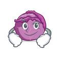 smirking red cabbage character cartoon vector image vector image