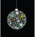 Snowflake bauble vector image vector image