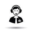 Soccer commentator icon vector image