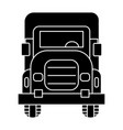 truck front view icon black vector image
