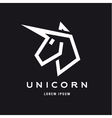 Unicorn logo icon style trend beautifully flat vector image vector image