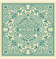 vintage label design for whiskey vector image vector image